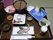 下仁田温泉清流荘の晩ご飯