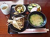 持田醤油店の焼きおにぎり定食