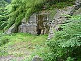石見銀山の大久保間歩ツアーでみた洞窟入り口