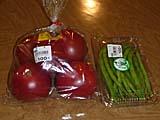 大田産のトマトといんげん