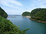 石見銀山世界遺産群の沖泊港