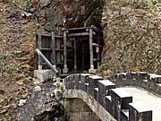 洞窟蒸し風呂の入口