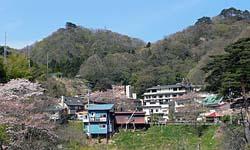 鎌先温泉 遠くからの景色