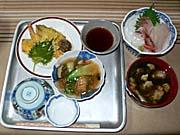 北海道の海の幸、山の幸の夕食1
