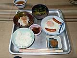 見市温泉旅館の朝食1