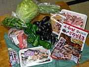 青森市内で調達した食材