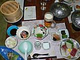 不老不死温泉の夕食