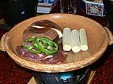雉と椎茸の焼き物