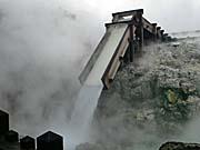 草津温泉の湯畑 お湯の噴出口