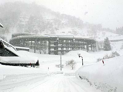 肘折希望橋 肘折温泉 雪景色