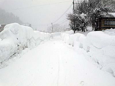 肘折温泉 雪景色