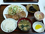 不動湯食堂の焼き肉定食
