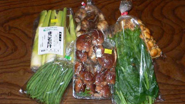 福島駅周辺で調達した食材