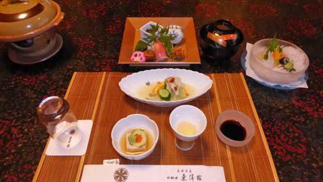 武雄温泉東洋館の夕食の一部