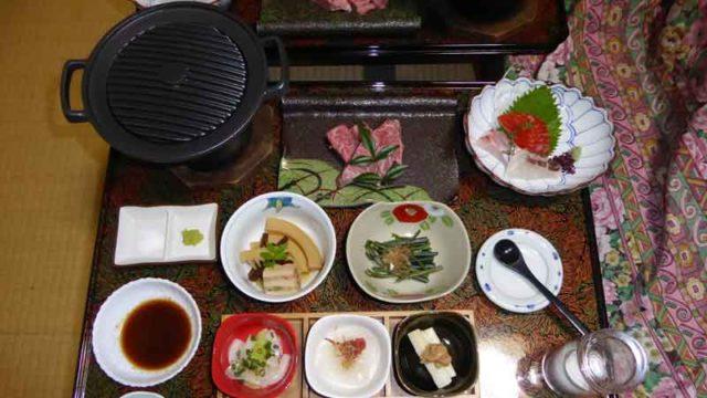 湯岐温泉 山形屋旅館の夕食