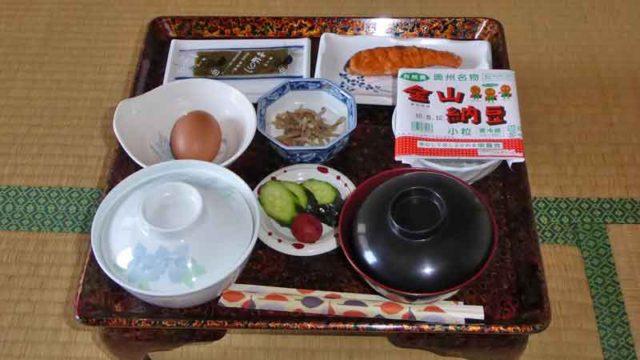 湯岐温泉 山形屋旅館の朝食