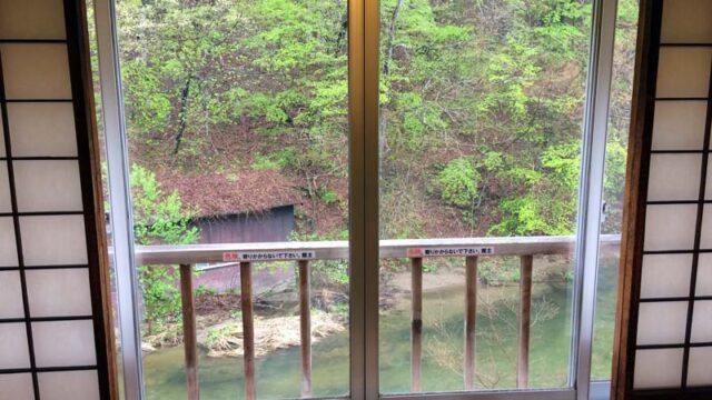 大沢温泉中館203号室からの眺め