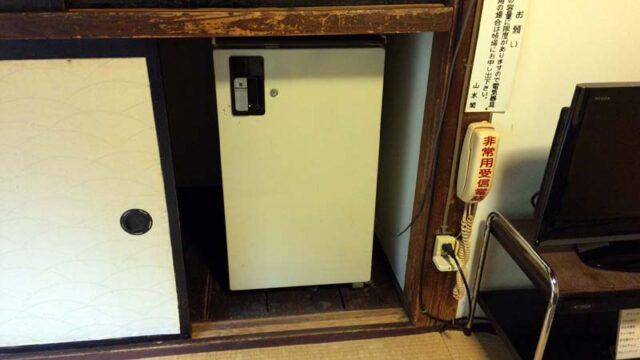 大沢温泉自炊部の冷蔵庫